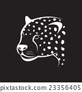 Vector image of an cheetah face. 23356405