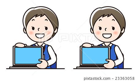 여성 스탭 - 컴퓨터 23363058