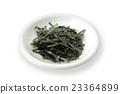 shredded nori, white background, seaweed 23364899