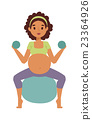 vector, pregnant, fitness 23364926