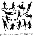 Soccer Football Player Silhouettes 23367051