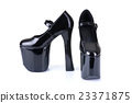 Black fetish high heel shoes 23371875