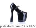 Black fetish style shoe 23371877