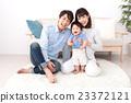 父母身份 父母和小孩 微笑 23372121