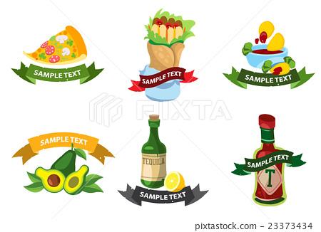logos mexican fast food stock illustration 23373434 pixta rh pixtastock com mexican logistics carriers mexican logos for restaurant