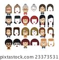illustration set avatars female faces, design 23373531