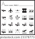 Airport Element Graph Icon Set 1.Mono pack. 23378773