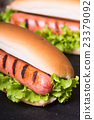 Barbecue Grilled Hot Dog 23379092