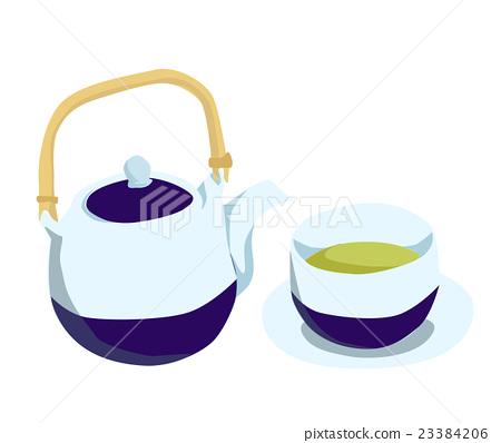 矢量 茶 茶壺 23384206