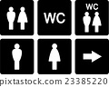 set of WC signs 23385220