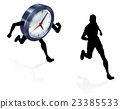 Time Clock Running Work Life Balance Concept 23385533