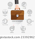 Businessman hand holding briefcase bag.  23392962