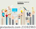 Set of business hands start up conceptual.  23392963