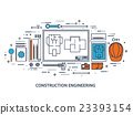 Vector illustration. Engineering and architecture 23393154