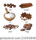 肉桂 香料 肉豆蔻 23393848