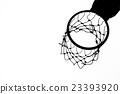 Old basketball hoop 23393920