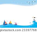 바다 풍경 일러스트 23397768