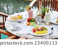 早餐 游泳池池邊 食品 23400113