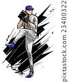 棒球 素描 草圖 23400322