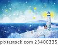 灯塔 海 冬天 23400335