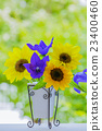Vase flowers Sunflower and Chinese cabbage 23400460
