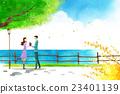 插圖 公園 夫婦 23401139