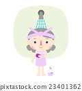女孩 洗澡 浴室 23401362