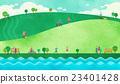草地 景色 人 23401428
