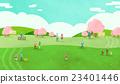 櫻花 牧場 草原 23401446