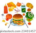 蔬菜 汉堡 食品 23401457
