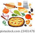 烹飪 披薩 食品 23401476