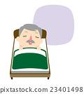 男人 床 睡覺 23401498