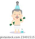 男性 洗澡 浴室 23401515