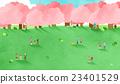 櫻花 牧場 草原 23401529