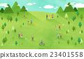草地 景色 人 23401558