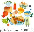 蔬菜 三明治 食品 23401612