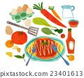 蔬菜 烹飪 煎蛋捲 23401613