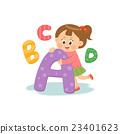 字母 兒童 孩子 23401623