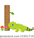 鬣蜥蜴 花朵 动物 23401719