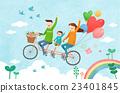 自行车 家人 家族 23401845