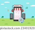mobile, music, smartphone 23401920