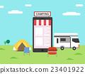 營地 露營 移動 23401922