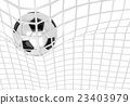 Soccer ball in net 23403979