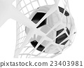Soccer ball in net 23403981