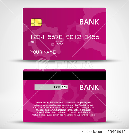 Templates of credit cards design 23406012