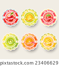 Set of fruit label sticker for advertisement 23406629