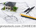 건설 건축 전문가 도면 비즈니스 사무실 설계도 설계 23408338
