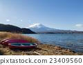 Mount Fuji at Lake Kawaguchi, Japan 23409560