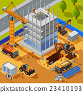 Construction Of Multistory Building Isometric 23410193