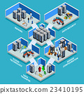 Datacenter Isometric Design Concept  23410195